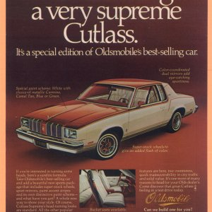 "1978 Oldsmobile Cutlass - ""A Very Supreme Cutlass"""