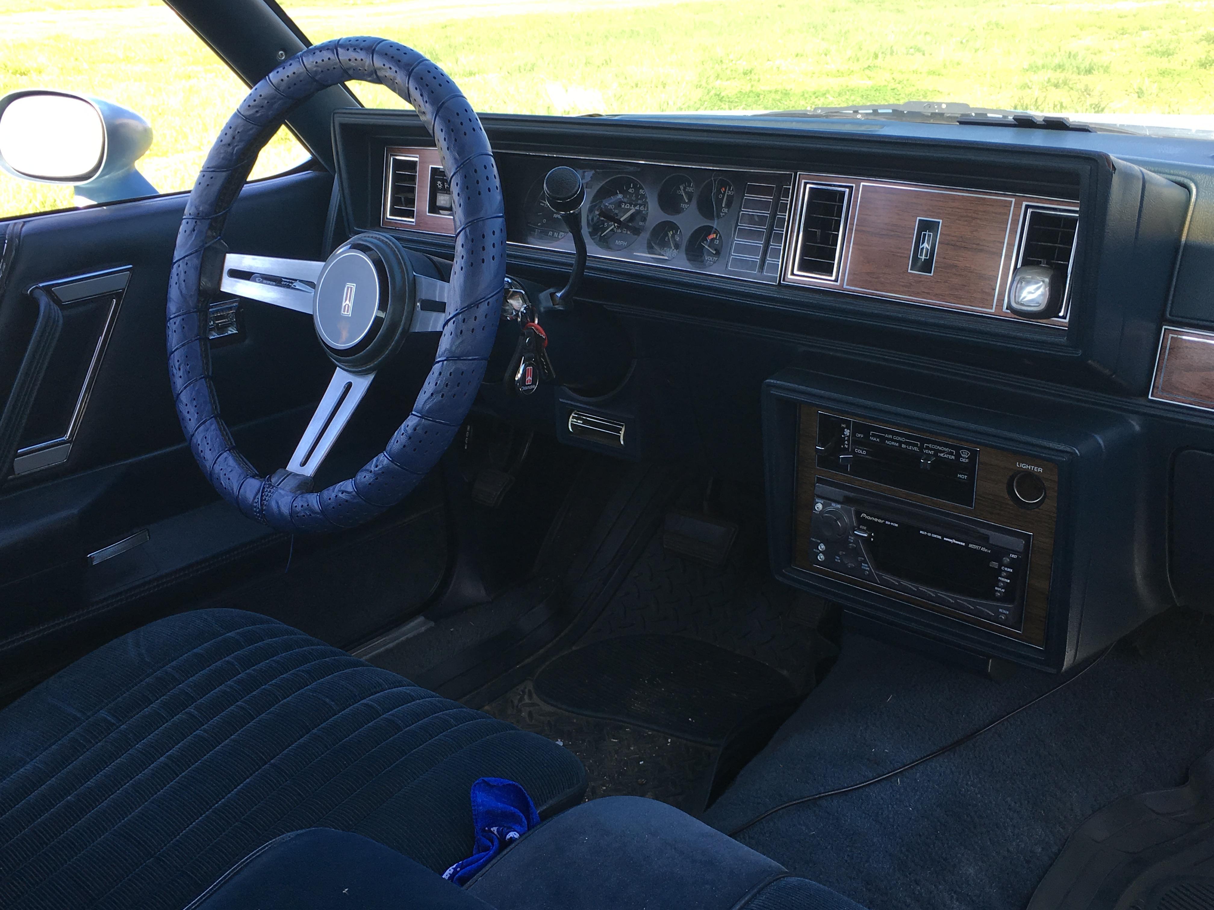 1987 Cutlass Supreme Betty Rumble Interior